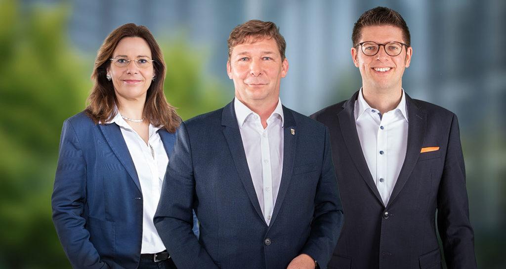 Bürgermeisterin Daniela Ritzerfeld, Bürgermeister Axel Fuchs und Stephan Muckel