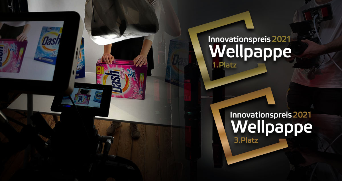 "Doppel Gewinner des ""Innovationspreis Wellpappe 2021"" VDW - Verband der Wellpappen-Industrie"